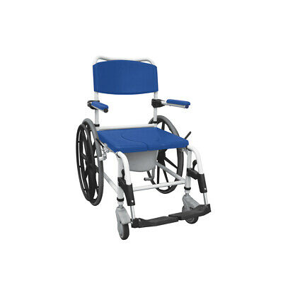 Drive Medical NRS185006 Aluminum Shower Mobile Commode Transport Chair