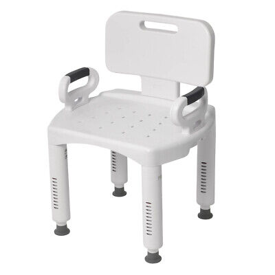 Drive Medical RTL12505 Premium Series Shower Chair w/ Back and Arms