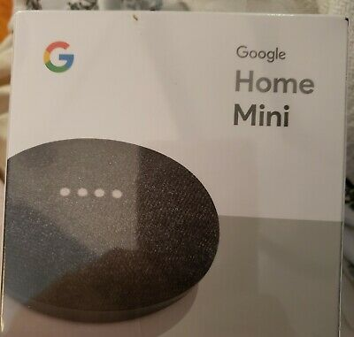 Google Home Mini Assistant  Smart Small Speaker - Charcoal New look at all photo