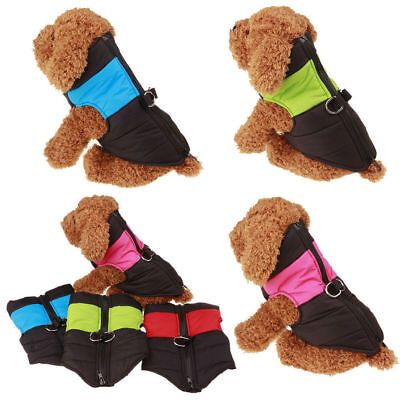 Pet Dog Cat Puppy Winter Vest Jacket Coat Clothes Warm Padded Apparel Waterproof