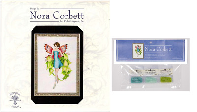 """COMPLETE XSTITCH MATERIALS /""""MISS COLUMBIAN NYMPHALID NC242/"""" by Nora Corbett"""
