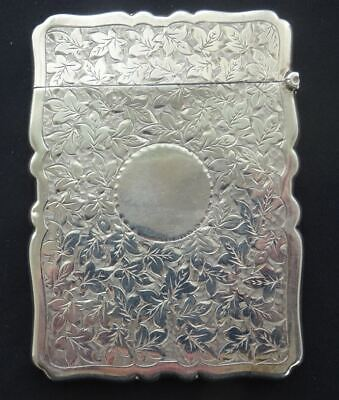 ANTIQUE VICTORIAN ENGLISH HALLMARKED STERLING SILVER CARD CASE, GOLDSMITHS Co.