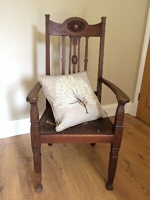Victorian Mahogany Armchair Elbow Chair Morris Arts & Craft Pre Raphaelite