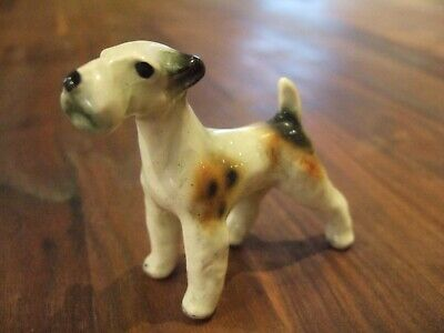 Collectable Pottery Schnauzer  Dog Figurine