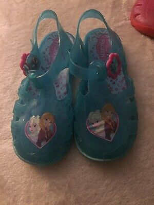 GIRLS FROZEN JELLY SANDALS SUMMER SHOES OFFICIAL LICENCE SIZE 4.5-8.5 21-26 EU