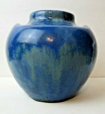 Rare PIERREFONDS French Art Pottery Bulbous Vase Crystalline Glaze circa 1920s