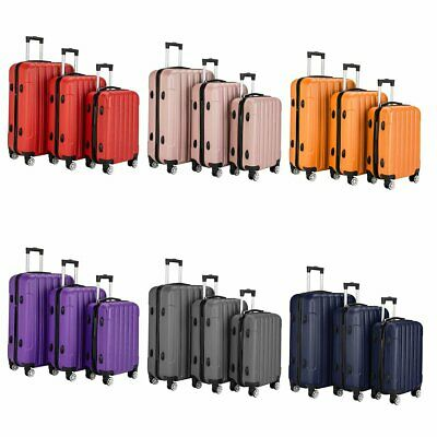 3 Piece Travel Luggage Set Lightweight Suitcase Spinner Hardshell Business Case