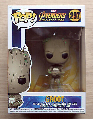 Funko Pop Marvel Avengers Infinity War Groot With Video Game + Free Protector