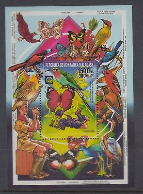 MALAGASY 1988 Scouts Butterfly MS Perfed MNH