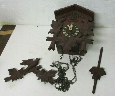 Schatz 8 Day Black Forest German Cuckoo Clock For Parts & Repair Germany