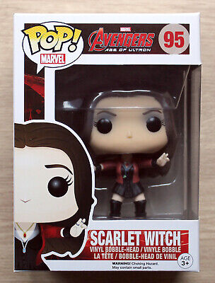 Funko Pop Marvel Avengers Age Of Ultron Scarlet Witch + Free Protector