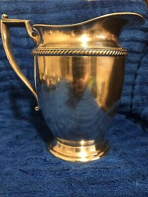S. F. Co silverplate water pitcher, marked 1453 1/2, needs to be cleaned