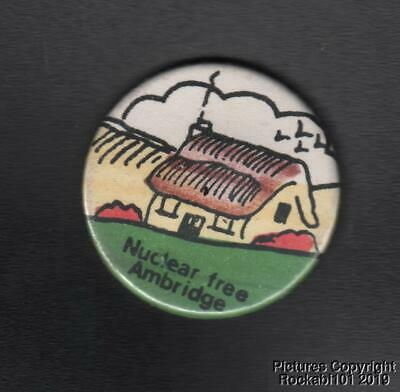 1982 Nuclear Free Ambridge BBC / Archers Related Pin Pinback Button