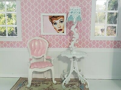 💕Barbie Blyth Monster High Furniture Lot OOKA Chair with Lamp Table💕