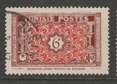 TUNISIA 1947 6fr Red and Brown VFU #