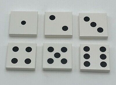 Lego 6 New Game Dice Tiles Pieces 1 Through 6 Numbers Pieces