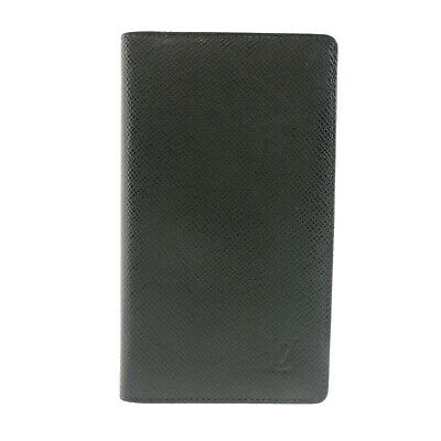Auth LOUIS VUITTON Agenda Poche Day Planner Cover Green Leather R20425 #f30479