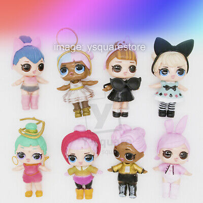 8 Pcs LOL Surprise Doll loose Toys figure Cake Princess toppers Gift Accessories