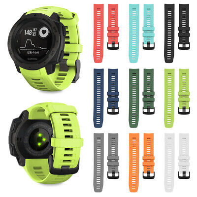 Quick Release 22mm Watch Band Silicone Replacement Strap For Garmin Instinct