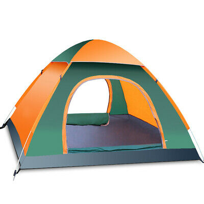 3-4 Persons Man Instant/Auto Pop Up Camping Hiking Travel Tent Family Waterproof