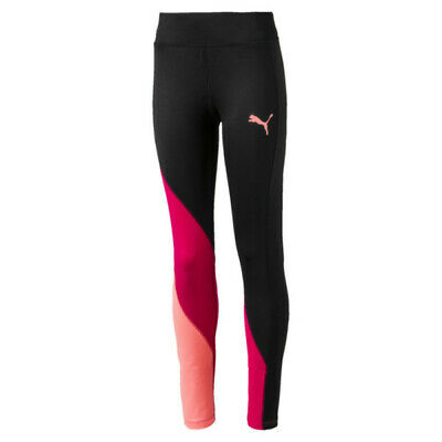 PUMA Girls dryCELL Training Softsport Leggings Age 7-8 Years BNWT Black/Multi