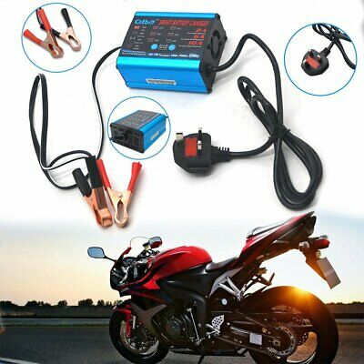 12V 6V Intelligent Battery Charger Car Motorcycle Bike Automatic Smart Trickle