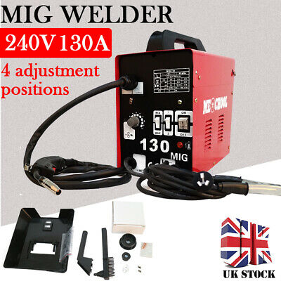 Professional MIG No-Gas Welding Machine Portable Gasless Mig Welder 130Amp 240V