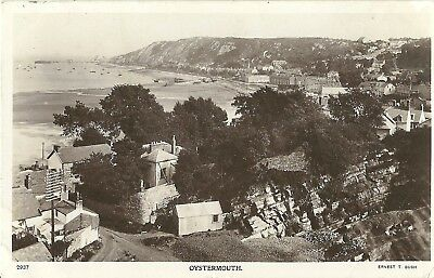 Oystermouth Mumbles Swansea Wales Ernest T Bush Real Photo Postcard
