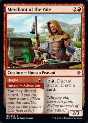 4x CONTRATTARE // MERCANTE DELLA VALLE - MERCHANT OF THE VALE Magic ELD Mint