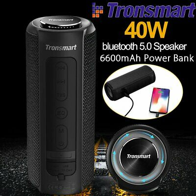 40W bluetooth 5.0 Speaker Tronsmart Element T6 Plus Waterproof Boombox Subwoofer