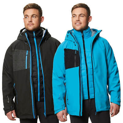 Regatta Mens Evader II 3 in 1 Waterproof Windproof Breathable Jacket 75% OFF RRP