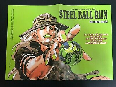 Star Comics - STEEL BALL RUN (JOJO) HIROHIKO ARAKI Poster + 2 segnalibri