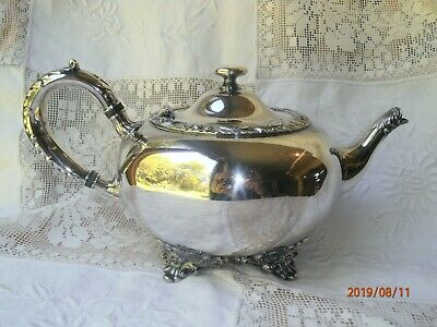 Wilcox Beverly Manor Tea Pot Footed Ornate N 7062 Teapot Silver Plate