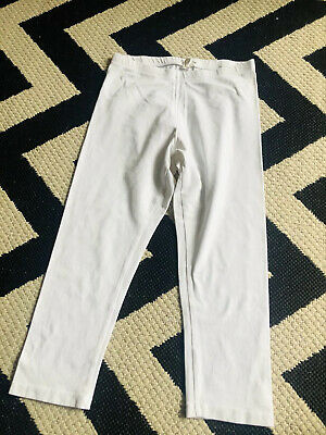 ☀H&M GIRLS WHITE CROPPED LEGGINGS☀Age 11-12 years☀3/4 Length☀Cotton☀