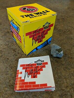 Roger Waters THE WALL 1990 Promo Genuine PIECE of BERLIN Wall Box Pink Floyd