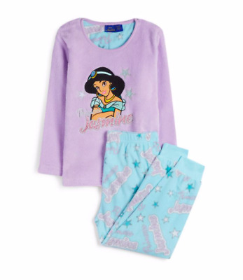 Disney Aladdin Princess Jasmine Pyjamas Pj's Girls Primark Age 2-10 soft fleece