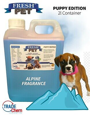 FRESH PET Puppy Dog Disinfectant Deodoriser Cleaner ANIMAL PAW SAFE 2L ALPINE