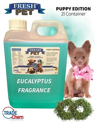 FRESH PET Puppy Dog Disinfectant Cleaner ANIMAL PAW SAFE 2L EUCALYPTUS