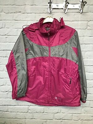Peter Storm Performance Storm shield pink grey waterproof jacket label size UK16