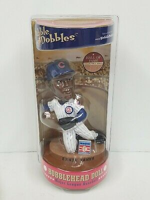 Ernie Banks Chicago Cubs Bobble Dobbles Bobblehead Hall Of Fame Series