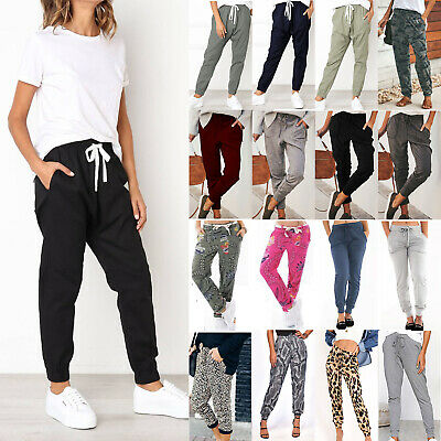 Womens Joggers Pants Tracksuit Bottoms Jogging Sports Loose Pants Harem Trousers