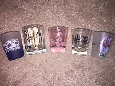 Vintage Las Vegas Shot Glass Lot (5 Pieces)