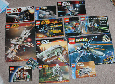 LEGO Star Wars Instruction Manuals Booklets Only Group Lot #1