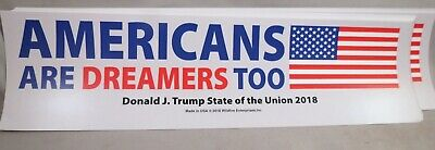 Wholesale Lot Of 20 Trump Americans Are Dreamers Too Sticker Re Elect 2020 Flag