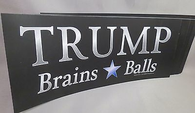 Wholesale Lot Of 20 Trump For President Brains And Balls 2016 Bumper Sticker Usa