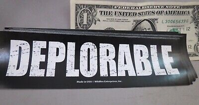 Wholesale Lot Of 20 Deplorable  Trump Campaign Sticker Distressed For 2020 Usa L