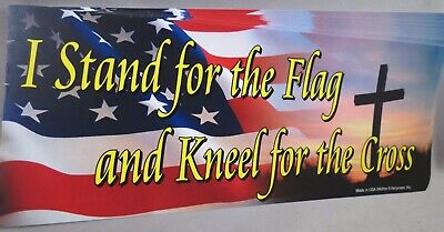 Lot Of 20 I Stand For The Flag Kneel For The Cross Sticker Trump Christian Usa