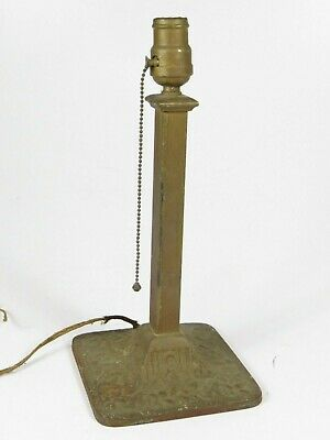 Antique Lamp Art Deco Cast Iron Beauty Light Column