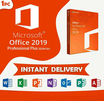 Microsoft Office 2019 Professional Plus - Genuine Product License Key Lifetime