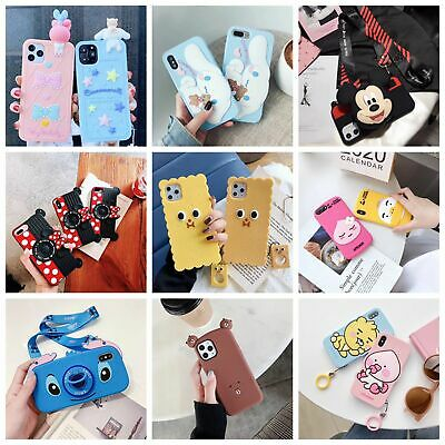 3D Cute Cartoon Soft Silicone Cover Case For iPhone 11 Pro Max XR XS 7 8 Plus